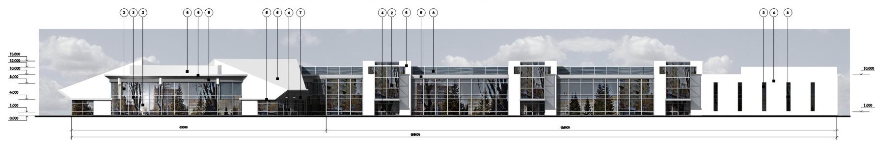 Фасад вид 1 М 1:200