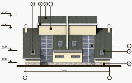 Фасад 1-7 М:1:100